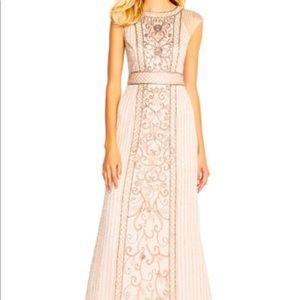 Adrianna Papell Blush bridesmaid dress